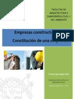 Constitución de Una Empresa Inmobiliaria