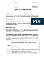 Unidad VII. Lenguaje SQL