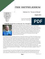 August Bethlehem Newsletter