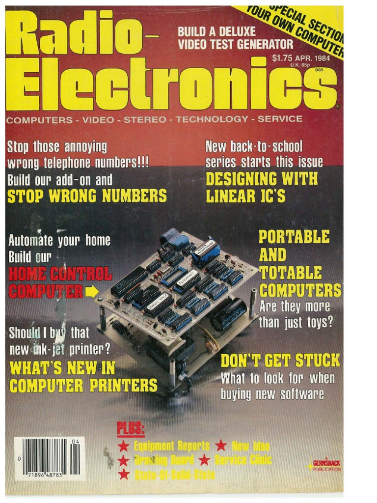RE - 1984-04 | Microprocessor | Radio Kenmore Wall Oven Wiring Diagram on