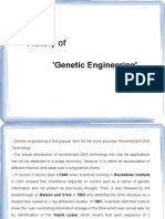 History of Genetic engineering