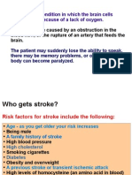 What is stroke  and how Laminine can play a role in preventing and reducing the effects of stroke,