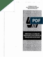 Normas Para La Elaboracion Presentacion y Evaluacion de Los Trabajos Especiales de Grado USM
