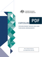 Australian Government Exposure Draft for Employment Services 2015-2020 Purchasing Arrangements