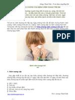 Những Triệu Chứng Của Bệnh Viêm Xoang Trẻ Em