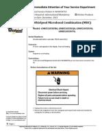 Whirlpool Microhood Combination (MHC) Model