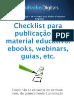 Checklist Para Materiais Educativos