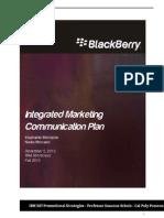 Blackberry IMC Plan