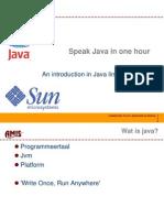 Speak Java in One Hour
