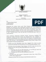 Surat Edaran Implementasi Kurikulum 2013