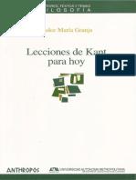 Lecciones de Kant Para Hoy