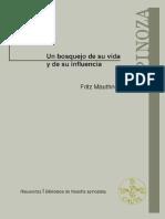 Spinoza. Un bosquejo de su vida y de su influencia - Mauthner, Fritz.pdf