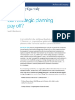 Can Strategic Planning Pay Off