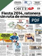 Periódico Norte edición del día 29 de julio de 2014