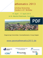 Abstracts Geomathematics 2013