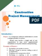 Project Mngt Lec1