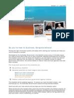 New to Biz Checklist Print Version