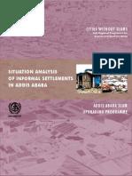 Situation Analysis of Slum Settlements in Addis Ababa