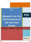 Research on the Performance of the Services Sector (ICT and Tourism)