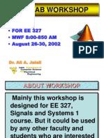 MATLAB Workshop Lecture 1