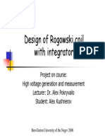 Design of Rogowski Coil With Integrator