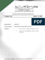 PENGURUSAN ORGANISASI AWAM 0304