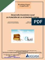 Desarrollo Económico Local. La Función de La Economía Social