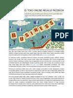 Memulai Bisnis Toko Online Melalui Facebook