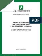 Appendice 1 - COMMISSIONE SVILUPPO SANITA' - L'Assistenza Territoriale