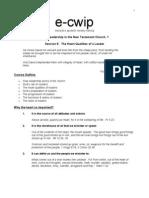 e-cwip Course 201 Session 5 Handout