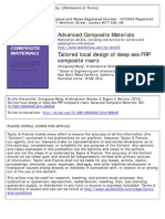 Tailored local design of deep sea FRP composite risers