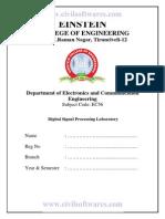 EC56 Digital Signal Processing Lab