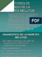 Factores de Riesgo de La Diabetes Mellitus
