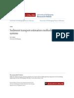 Sediment Transport Estimation Methods in River Systems