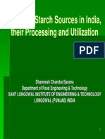 Starch Sources Processing in India