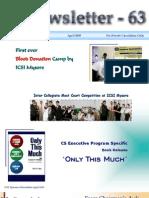 63 ICSI Mysore e-Newsletter April 2009