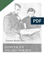 Lincolns Negro Policy