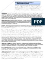 Russian Aggression Prevention Act Detailed One-Pager Background