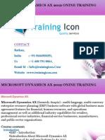 Axapta Online Training @trainingicon