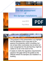 The Risk Assessment of Fire Damper Installations