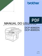 Manual Do Usuário - DCP-8080DN e DCP-8085DN