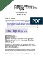 Discourse Analysis for Language TeachersDEMO