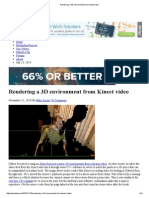 Hackaday-Rendering a 3D Environment From Kinect Video