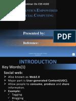 SEMANTICS-EMPOWERED SOCIAL NETWORKING