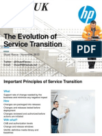evolution of service transition hp