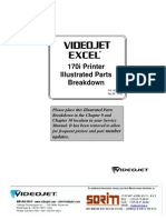 Videojet 170i Printer Parts List