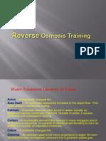Reverse Osmasis Training