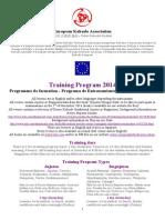 European Kobudo Association Training Program Contents 2014