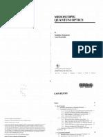 Mesoscopic Quantum Optics - Y. Yamamoto & a. Imamoglu
