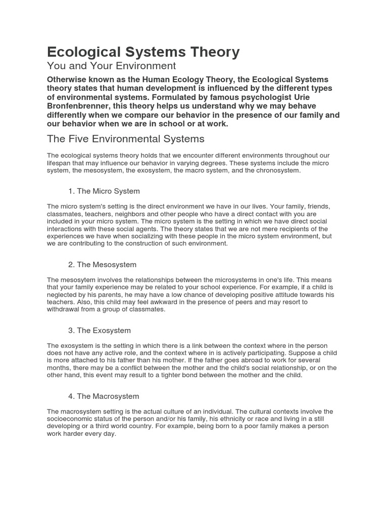 how does the microsystem influence a childs development